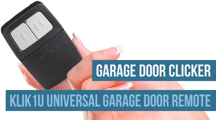 Klik2u garage door clicker