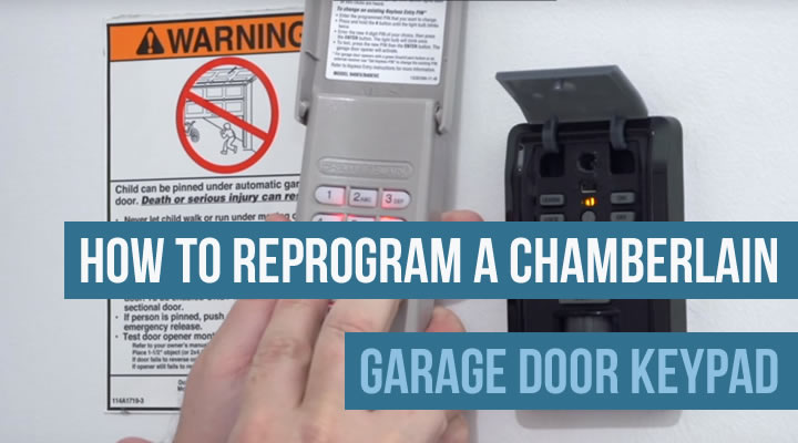 How to Reprogram a Chamberlain Garage Door Keypad